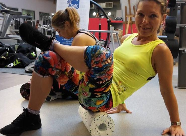 Prowadząca zajęcia z fitnesu